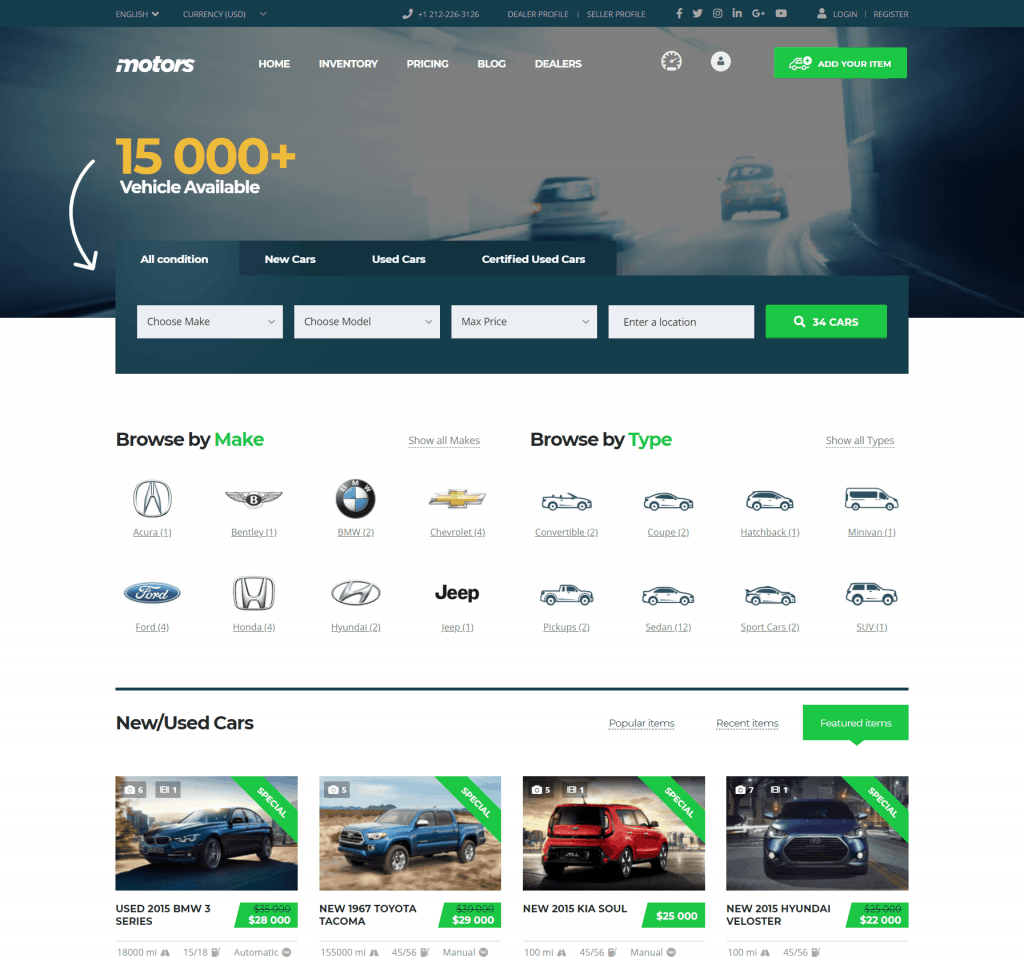 Motors by StylemixThemes review