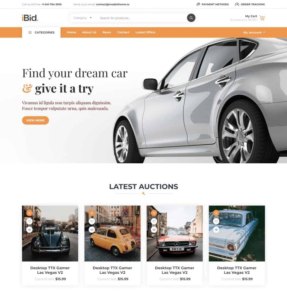 iBid by modeltheme review