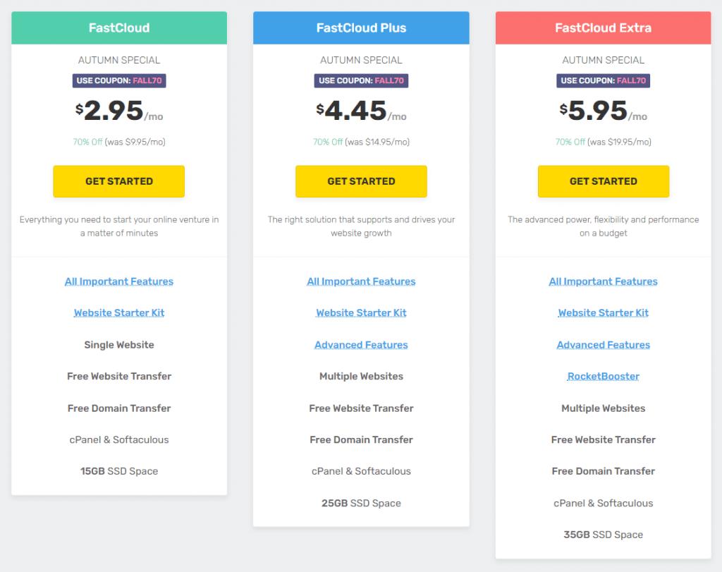 FastComet-WordPress-Plans